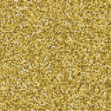 Golden seamless geometric pattern