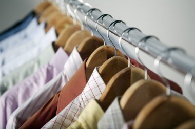 hangers with different shirts