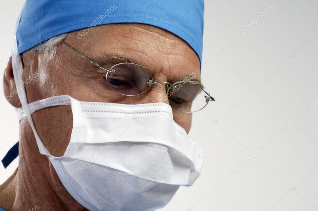 portrait of surgeon in mask
