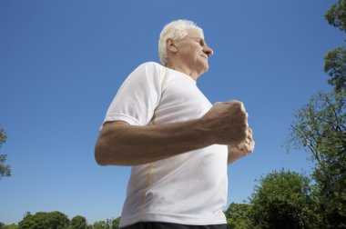 Adult male exercising