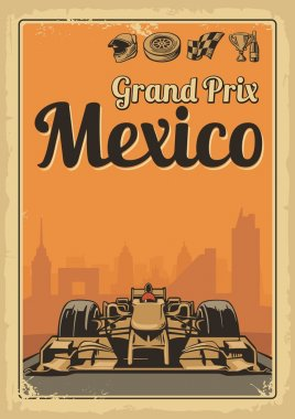 Vintage poster Grand Prix Mexico