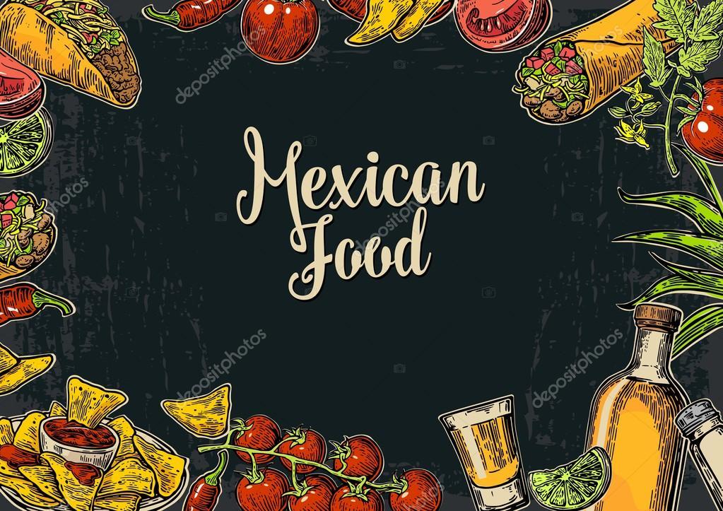 Mexican Food Menu - Download Free Vectors, Clipart Graphics & Vector Art