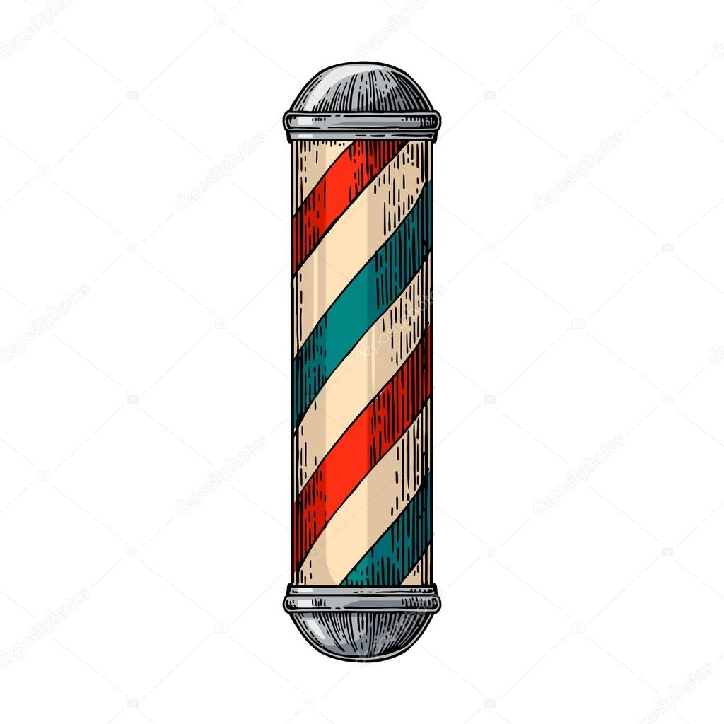 classic barber shop pole stock vector denispotysiev 122551014 rh depositphotos com barber pole vector free barber pole vector file