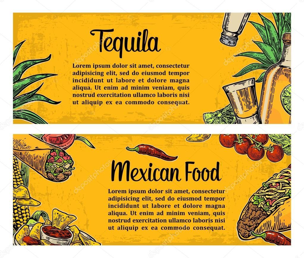 Plantilla de menú de restaurante de comida tradicional mexicana con ...