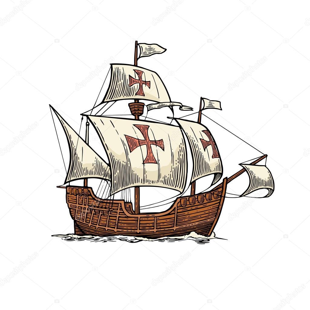 barco flotando en las olas del mar carabela santa maria ship victory 1 ship victory 2