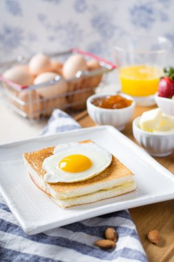 Croque madame on a table