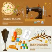 Tailor banners seamstress tailoring tools