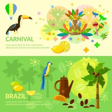 Brazilian Carnival  Brazil banners Brazilian culture vector illustration clip art vector