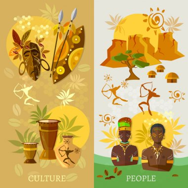 African banner Africa culture and traditions