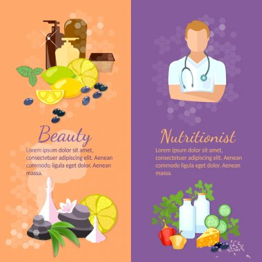 Beauty and health banner nutritionist