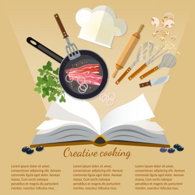 Cookbook flat style