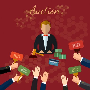 Auction and bidding concept