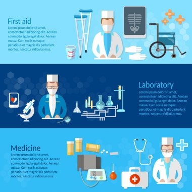 Medicine and pharmaceuticals banner