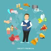 Lobesità uomo grasso cause ed effetti dellobesità