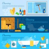Takarítás bannerek, otthoni tisztító