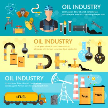 Oil industry banner oil products