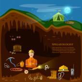 Fotografie Höhlen der Höhlen untersuchen unterirdische Minen professionelle speleologi