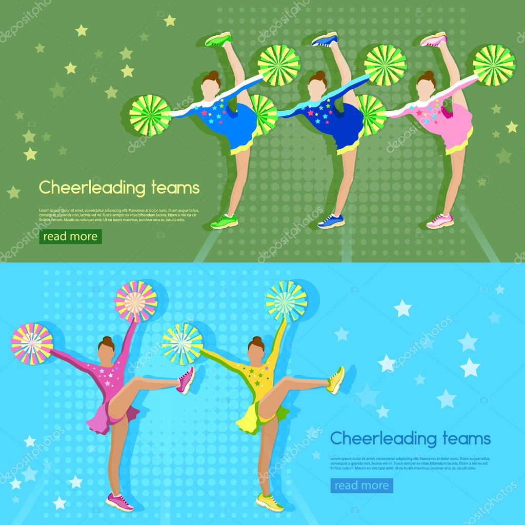 cheering and team