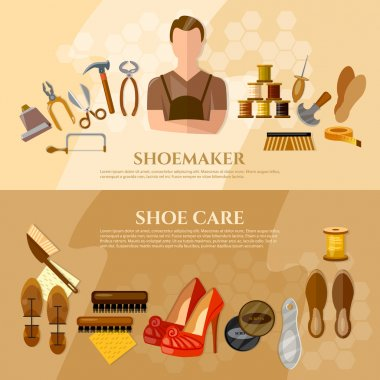 Shoemaker banners cobbler shoe repair shoe care