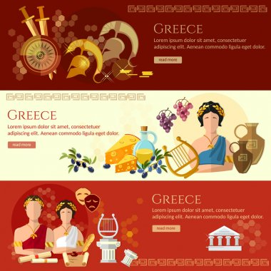 Ancient Greece banner tradition and culture ancient history