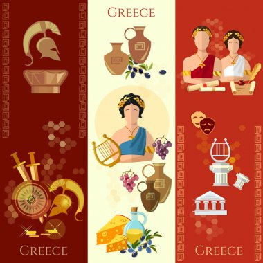 Ancient Greece and Rome banner tradition and culture