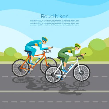 Cycle racing people on bicycles group of cyclists man in road