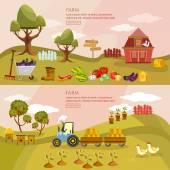 Fotografia Prodotti agricoli agricoltura paesaggio banner coltivatore