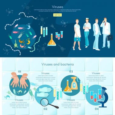 Microbiology infographics medical analysis medical research