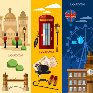 London banner United Kingdom buildings royal guards