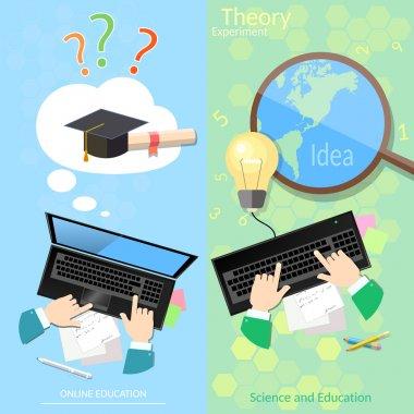 Online education distance tutorials university student banners