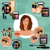 Make-up Artist schöne Frau Gesicht