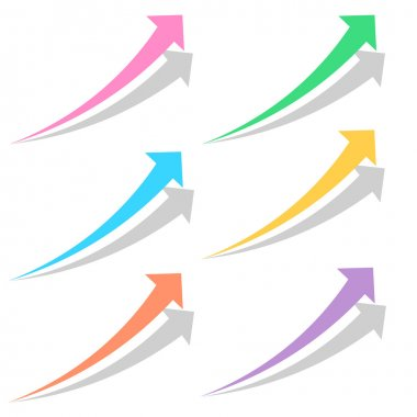 Colored arrows set