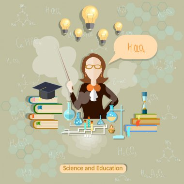 Science and education, chemistry teacher