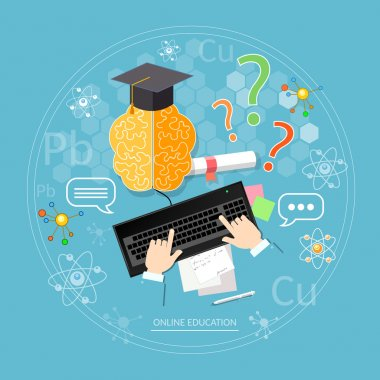 Online education student learns