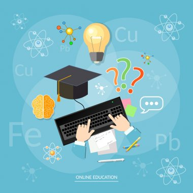 Online education students computer
