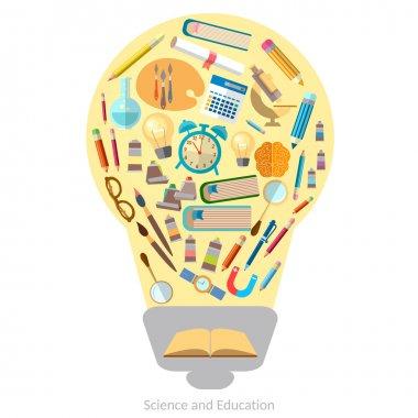 Education effective training light bulb