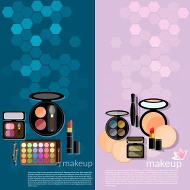 Professional make-up glamor details