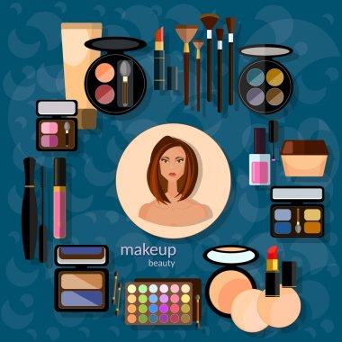 Makeup artist beautiful woman