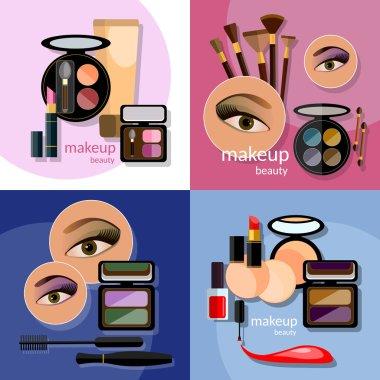 Makeup beautiful female eyes
