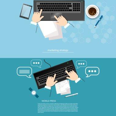 Office work laptop hands businessman