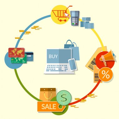 Internet shopping concept on-line