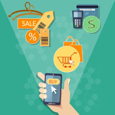 Mobile store marketing online shopping