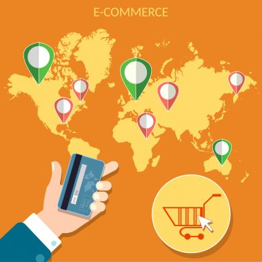 Worlds e-commerce map pointer