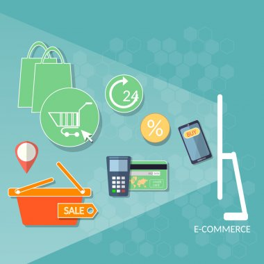 Internet shopping concept e-commerce