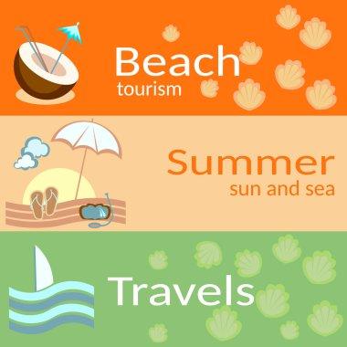 Beach tourism, summer, sun and the sea