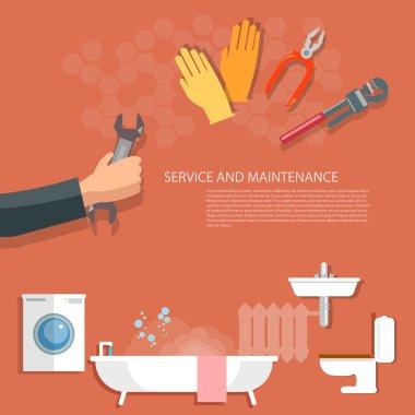 Plumbing service, washing machine