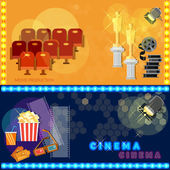 Photo Cinema festival movie poster template tickets banners