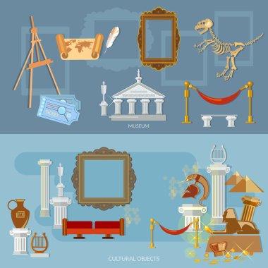 Museum vector banners