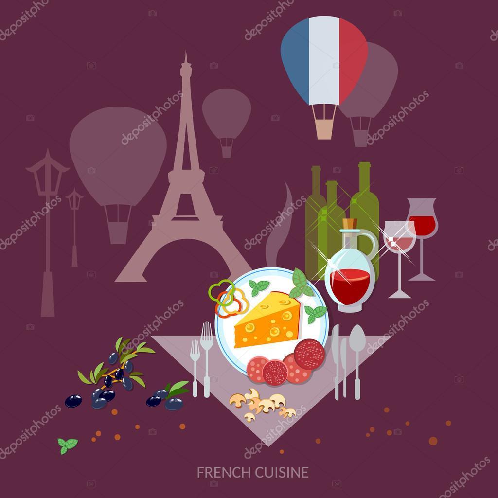 Französische Küche und Kultur Frankreich Essen französischer Wein ...