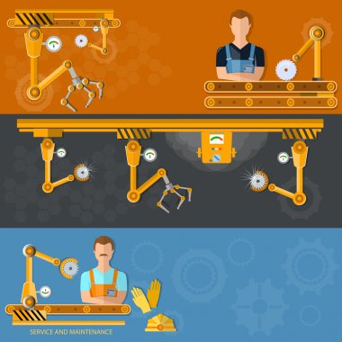 Conveyor banners automation of labor conveyor belt